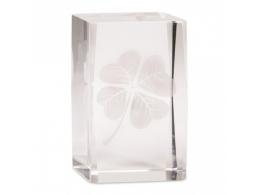 Feng Shui - õnnetoov 4-leheline ristikhein klaastahukas - VIIMANE